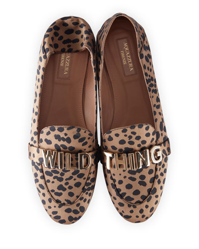 Wild Thing Printed Moccasin Loafers
