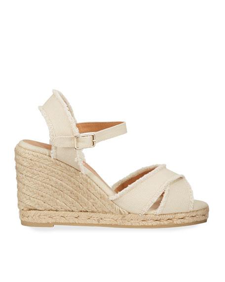 Bromelia Wedge Canvas Sandals