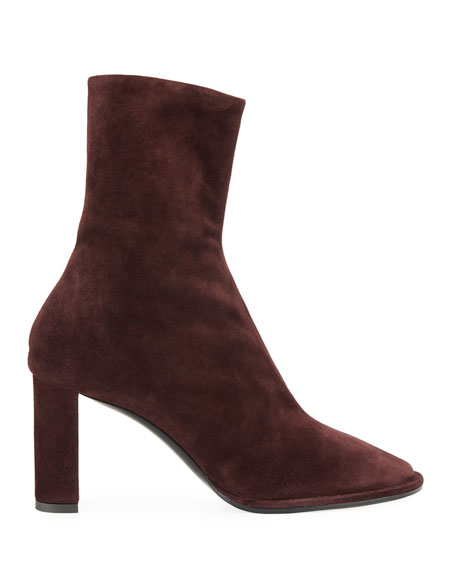 Teatime Suede Zip Booties
