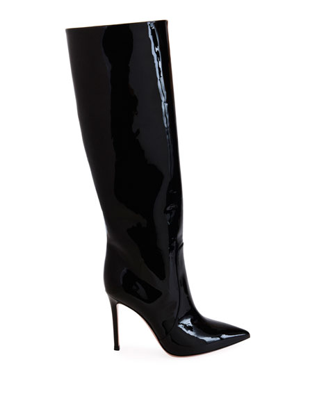 Patent Over-The-Knee Boots