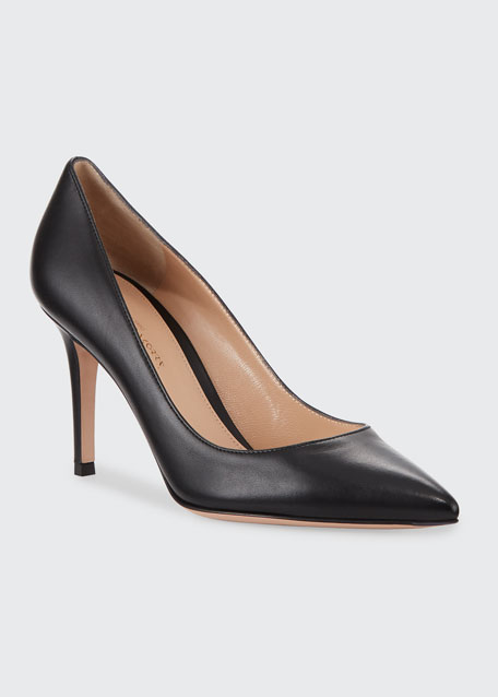 Gianvito 85 Leather Point-Toe Pumps