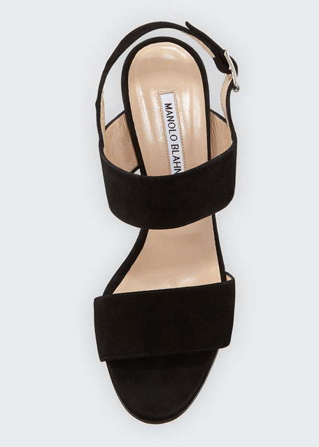Khan Suede 90mm Sandals