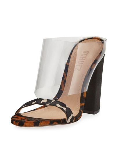 Marjore Leopard -Print High Sandals
