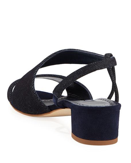 Picciolino Linen Asymmetric Sandals