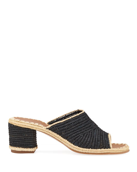 Rama Woven Raffia Slide Sandals