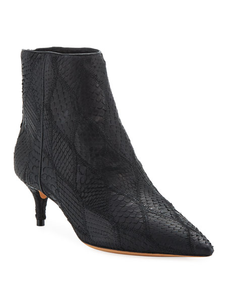 Python Zip Ankle Booties