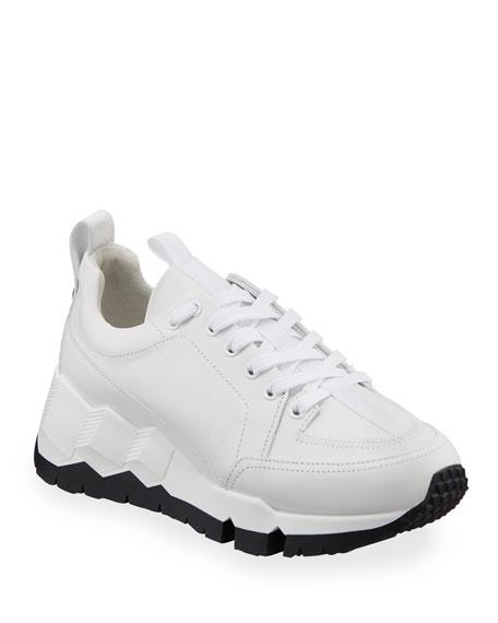 Pierre Hardy Street Life Leather Platform Sneakers