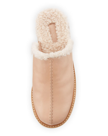 Adler Shearling-Lined Clogs