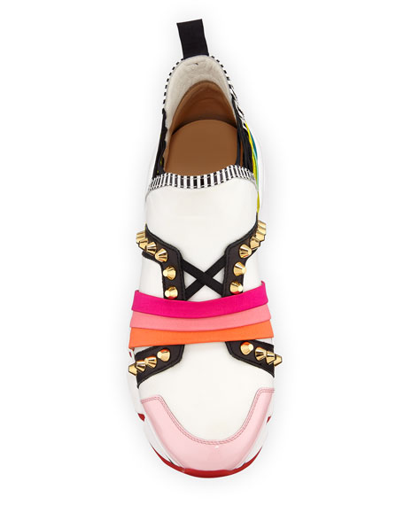 123 Run Rainbow Red Sole Sneakers