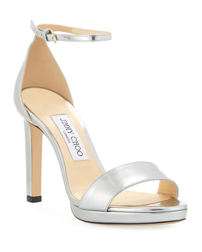 Misty Metallic Leather Sandals