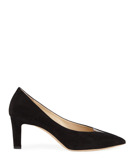 Baker Suede Pointed Pumps