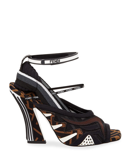 a410705d2b3b Fendi Freedom FF Patchwork Sandals