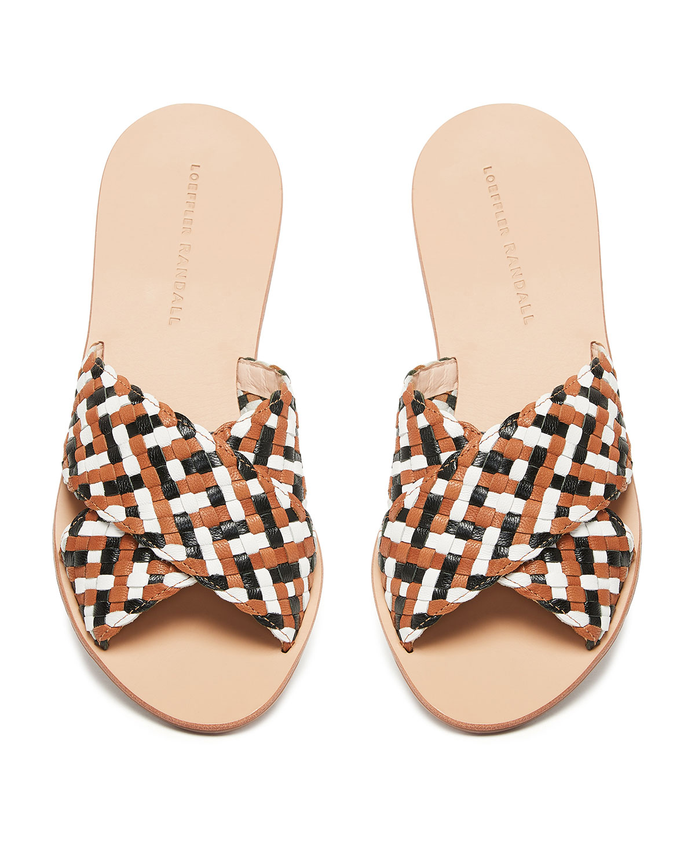 Claudie Woven Leather Slide Sandals by Loeffler Randall