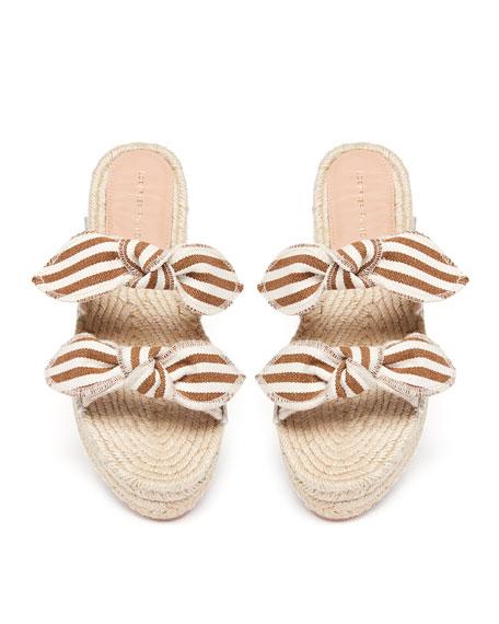 Daisy Espadrille Platform Slide Sandals