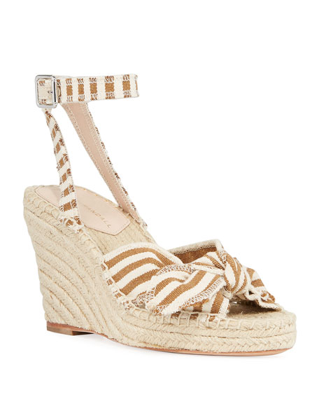 Tessa 80mm Bow Wedge Espadrilles