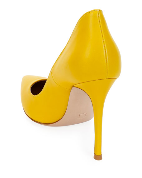 Pointed Smooth Leather Pumps