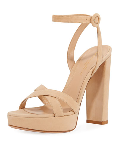 09b4f60b3cf9 Leather Ankle-Strap Platform Sandals Quick Look. Gianvito Rossi