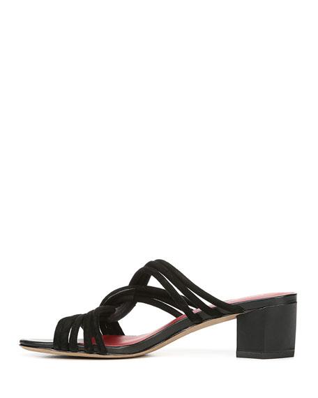 Jada Suede Knot Slide Sandals