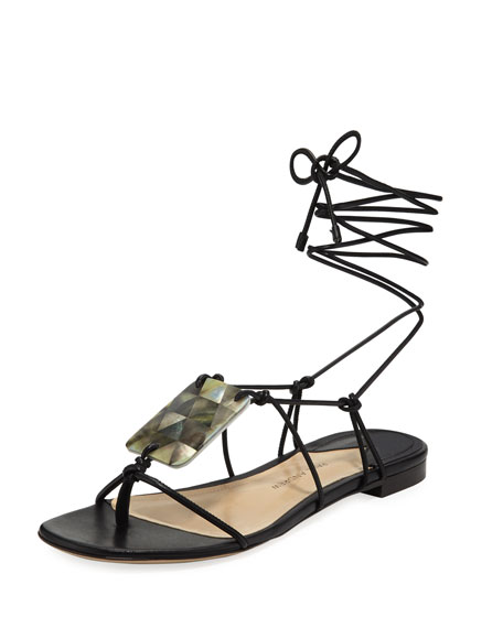 Image 1 of 1: Pearl Driver Tie Sandals