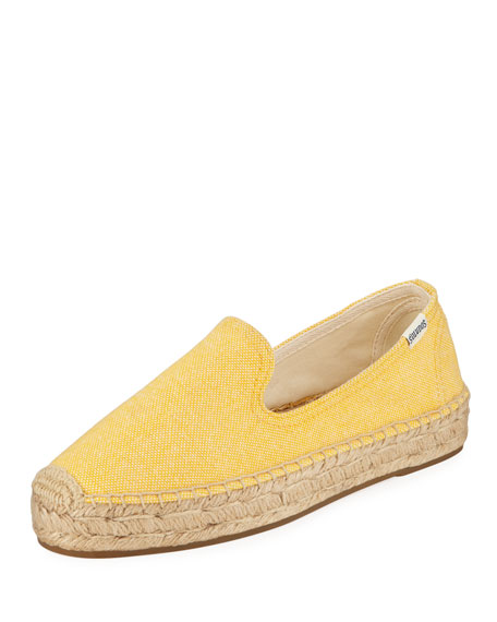 Image 1 of 1: Espadrille Platform Smoking Slipper