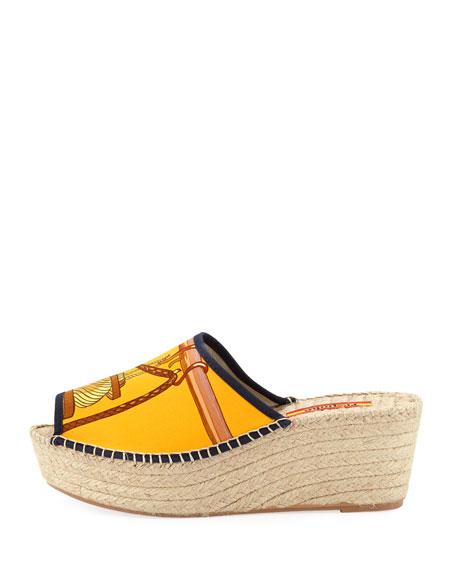 Charo Wedge Slide Espadrille Sandals
