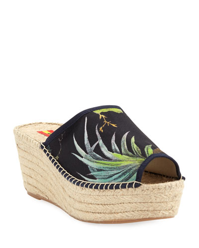 Consuelo Wedge Slide  Espadrille Sandals