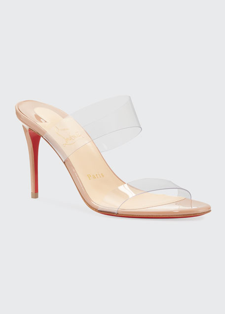 Just Nothing Illusion Red Sole Sandals, Red