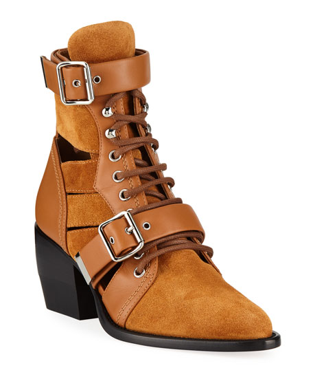 Rylee Suede and Leather Booties