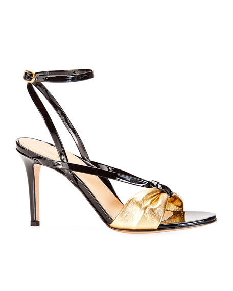 Lucy Strappy Metallic Sandals