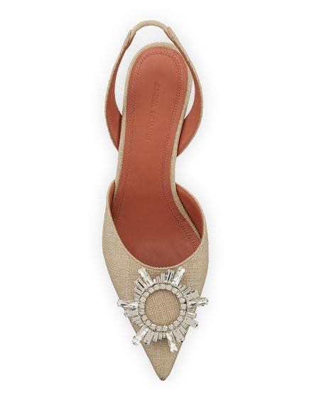 Begum Embellished Linen Sandals
