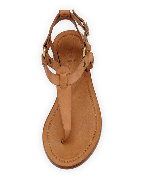 Rachel T-Strap Leather Sandals