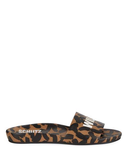 Wild Thang Leopard-Print Slide Sandals