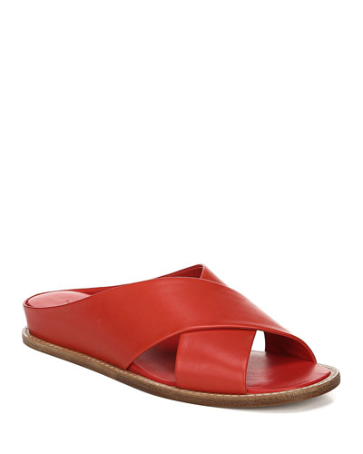 Fairley Leather Slide Sandals