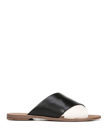 Bailie Two-Tone Flat Sandals