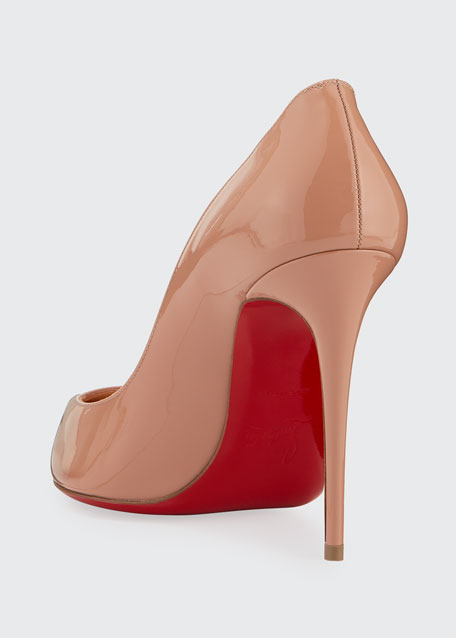 Corneille Asymmetric Patent Red Sole Pumps