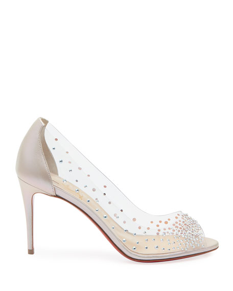 Sucre Glace Red Sole Clear Pumps