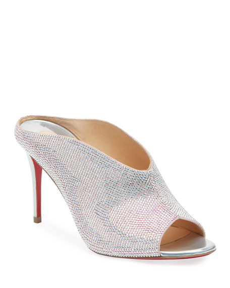 Iced Bear Embellished Red Sole Mules