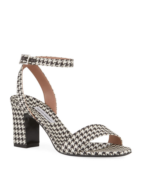 Leticia Houndstooth Sandals