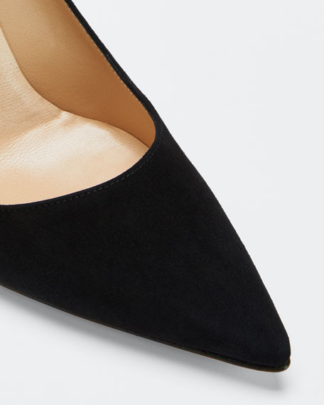 BB Suede 90mm Pointed Pumps