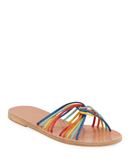Xanthi Flat Leather Strappy Sandals