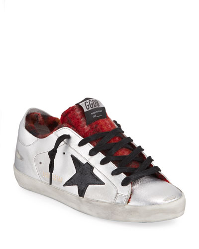 Superstar Metallic and Plaid Sneakers