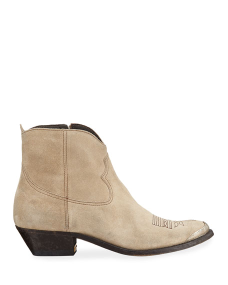 Young Suede Western Boots