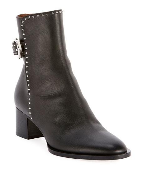 Elegant Studded Ankle Booties