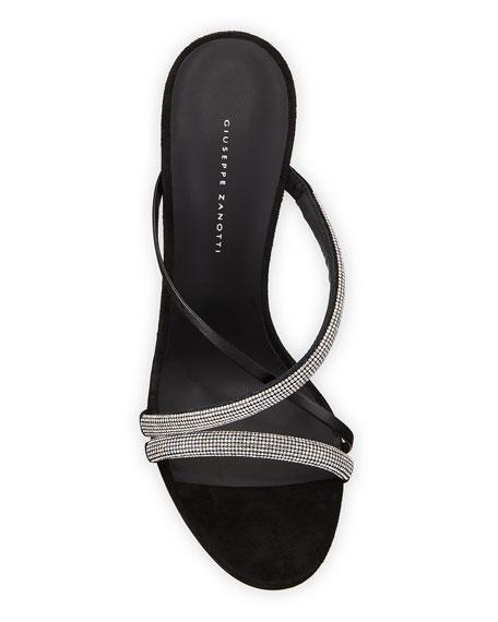 Strappy Embellished Crisscross Sandals