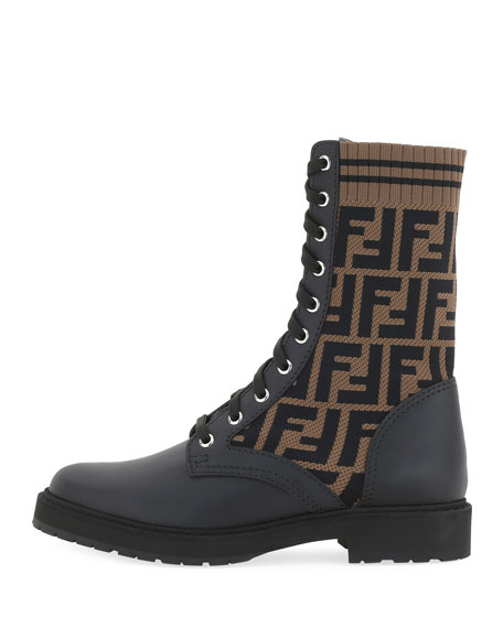 Leather and FF Combat Boots