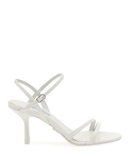 Patent Strappy Ankle Sandals