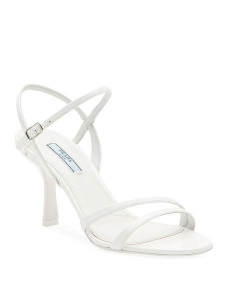 Image 1 of 1: Patent Strappy Ankle Sandals