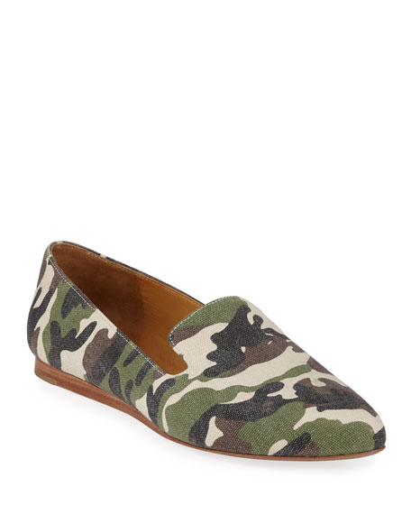 Griffin Camo Canvas Flat Loafers