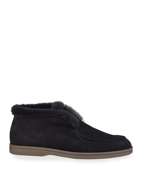 Suede Open Walking Loafers