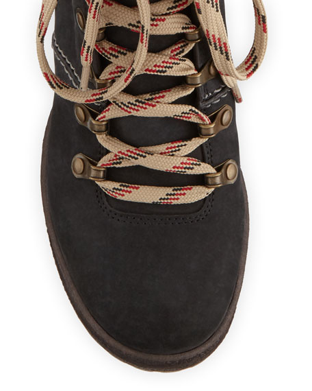 Suede Lace-Up Hiker Boots